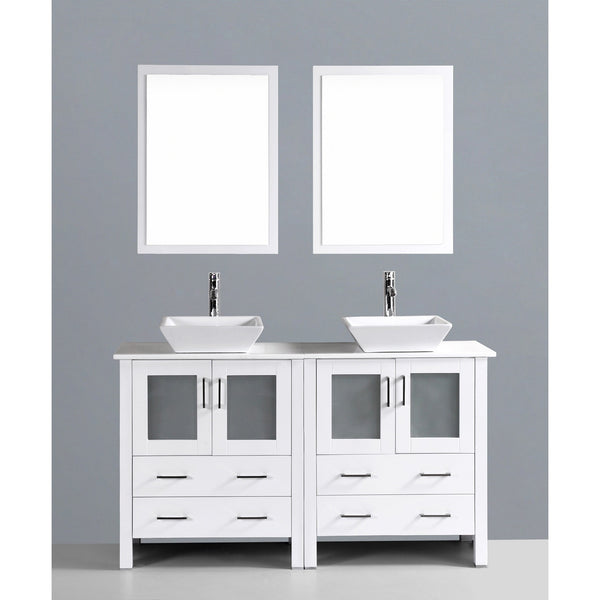 "Bosconi 60"" Double Vanity - AW230S - Bath Vanity Plus"
