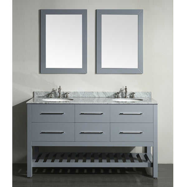 "Bosconi 60"" Double Vanity - SB-250-5GR - Bath Vanity Plus"
