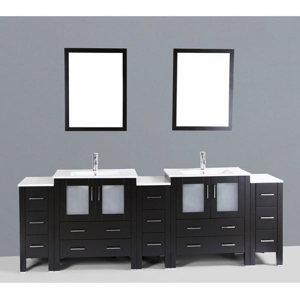 "Bosconi 96"" Double Vanity - AB230U3S - Bath Vanity Plus"