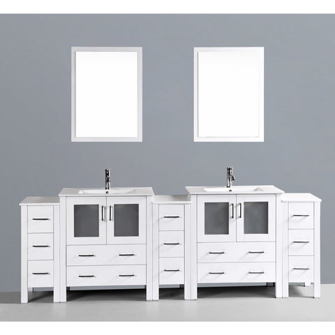 "Bosconi 96"" Double Vanity - AW230U3S - Bath Vanity Plus"