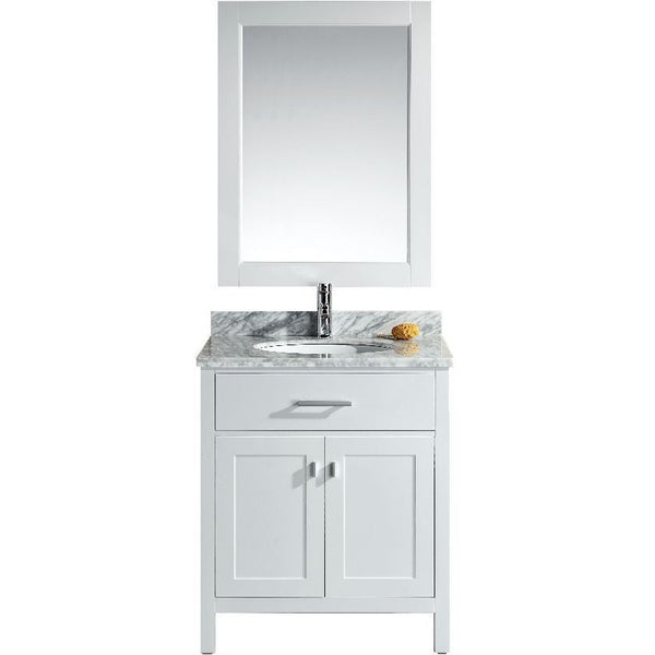 "Design Element 30"" London Stanmark Single Sink Vanity Set in White or Espresso - DEC076E-W - Bath Vanity Plus"