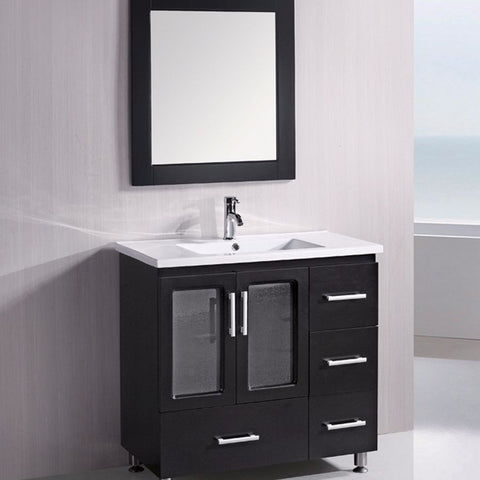 "Design Element 36"" Stanton Single Sink Vanity Set - B36-DS - Bath Vanity Plus"