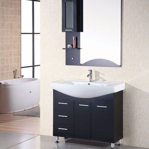 "Design Element 40"" Sierra Single Sink Vanity Set - DEC026 - Bath Vanity Plus"