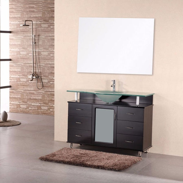 "Design Element 48"" Huntington Single Sink Vanity Set - DEC015C - Bath Vanity Plus"