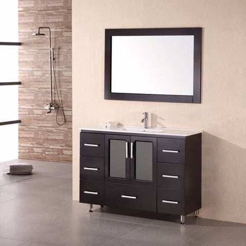 "Design Element 48"" Stanton Single Sink Vanity Set - B48-DS - Bath Vanity Plus"
