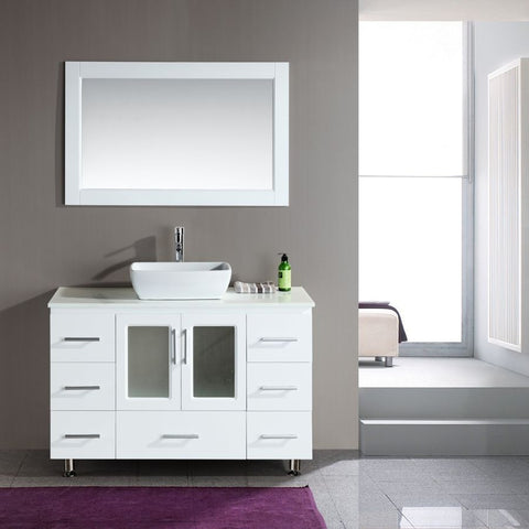 "Design Element 48"" Stanton Single Sink Vanity Set with Vessel Sink - B48-VS - Bath Vanity Plus"