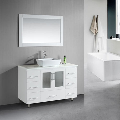 Design Element 48 Stanton Single Sink Vanity Set With Vessel Sink