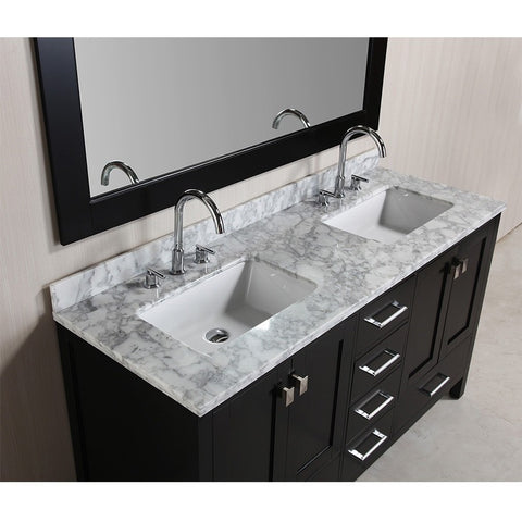 gray double sink vanity. design element 60\ gray double sink vanity