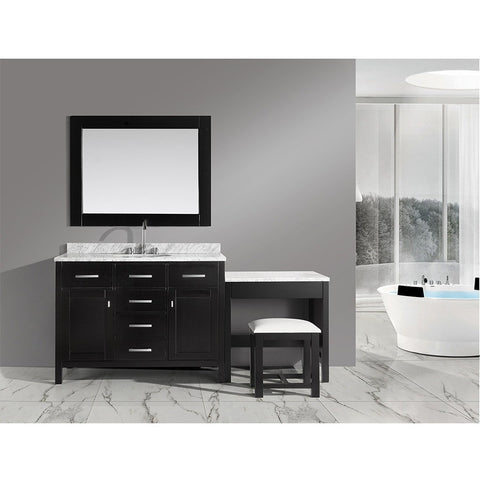 "Design Element 78"" London Stanmark Modular Single Vanity Set with Make-Up Table - DEC076C_MUT - Bath Vanity Plus"