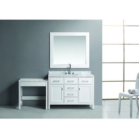 "Design Element 78"" London Stanmark Modular Single Vanity Set with Make-Up Table - DEC076C-W_MUT-W - Bath Vanity Plus"