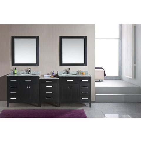 "Design Element 92"" London Stanmark Modular Double Sink Vanity Set - DEC076D-92 - Bath Vanity Plus"