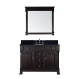 "Virtu USA Huntshire 48"" Single Bathroom Vanity w/ Granite Top, Sink, Mirror"