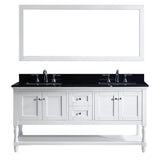 "Virtu USA Julianna 72"" Double Bathroom Vanity w/ Sink, Faucet, Mirror"