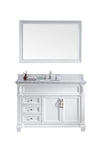 "Virtu USA Victoria 48"" Single Bathroom Vanity w/ Sink, Chrome Faucet, Mirror"