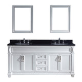 "Virtu USA Victoria 72"" Double Bathroom Vanity w/ Sink, Faucet, Mirror"