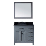 "Virtu USA Caroline Parkway 36"" Single Bathroom Vanity w/ Sink, Mirror"