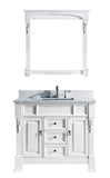 "Virtu USA Huntshire 40"" Single Bathroom Vanity w/ Square Sink, Mirror"