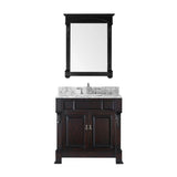 "Virtu USA Huntshire 36"" Single Bathroom Vanity w/ Square Sink, Faucet, Mirror"