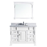 "Virtu USA Huntshire Manor 48"" Single Bathroom Vanity w/ Sink, Faucet, Mirror"