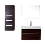 "Virtu USA Antonio 30"" Single Bathroom Vanity w/ Sink, Faucet, Mirror"