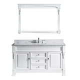 "Virtu USA Huntshire 60"" Single Bathroom Vanity w/ Square Sink, Mirror"