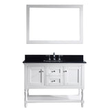 "Virtu USA Julianna 48"" Single Bathroom Vanity w/ Sink, Faucet, Mirror"