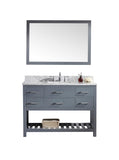 "Virtu USA Caroline Estate 48"" Single Bathroom Vanity w/ Square Sink, Mirror"