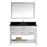 "Virtu USA Caroline Estate 48"" Single Bathroom Vanity w/ Sink, Faucet, Mirror"