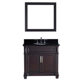 "Virtu USA Victoria 36"" Single Bathroom Vanity w/ Sink, Faucet, Mirror"