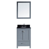 "Virtu USA Caroline Avenue 24"" Single Bathroom Vanity w/ Sink, Faucet, Mirror"