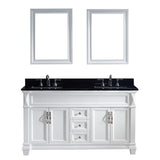 "Virtu USA Victoria 60"" Double Bathroom Vanity w/ Sink, Faucet, Mirror"