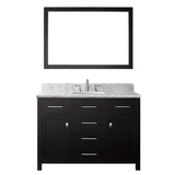 "Virtu USA Caroline 48"" Single Bathroom Vanity w/ Sink, Chrome Faucet, Mirror"