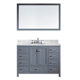 "Virtu USA Caroline Avenue 48"" Single Bathroom Vanity w/ Sink, Faucet, Mirror"