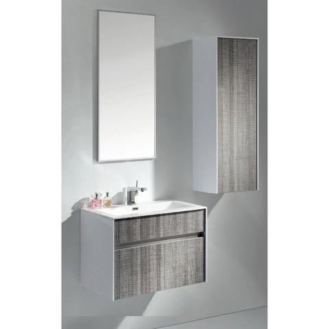 "Eviva Ashy 24"" Ash Gray Wall-Mount Bathroom Vanity Set - EVVN12-24ASH - Bath Vanity Plus"