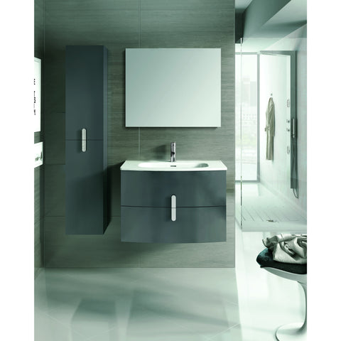 "Eviva Cali 31"" Gray Wall-Mount Bathroom Vanity Set - EVVN32-31GR-Round - Bath Vanity Plus"