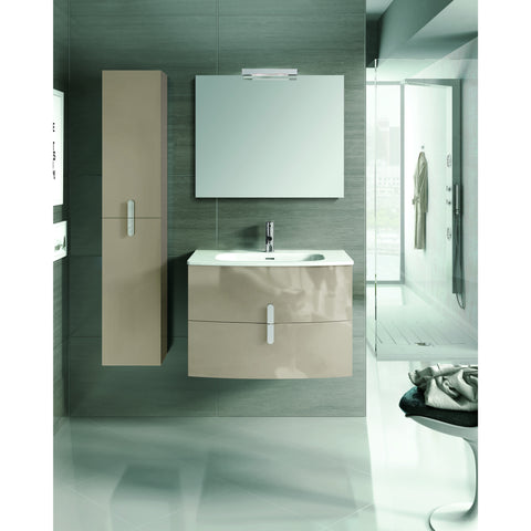 "Eviva Cali 31"" Light Brown Wall-Mount Bathroom Vanity Set - EVVN32-31TP-Round - Bath Vanity Plus"