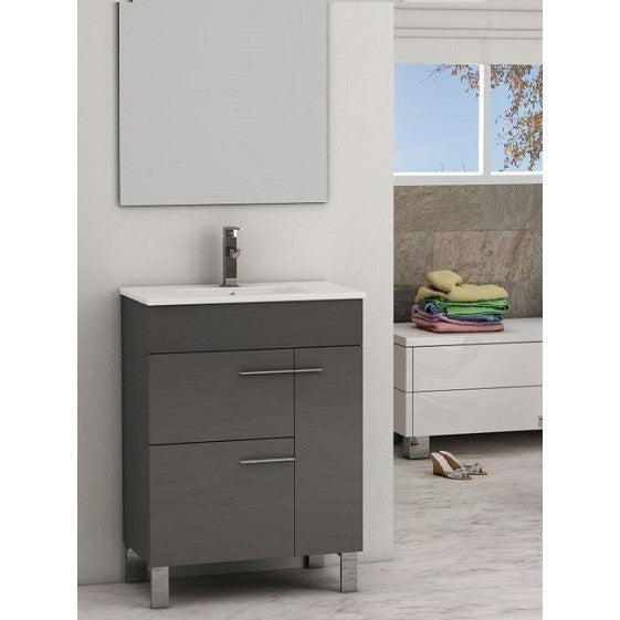 "Eviva Cup® 24"" Gray Modern Bathroom Vanity Set - EVVN521-24GR - Bath Vanity Plus"