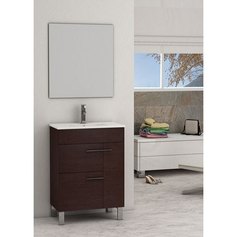 "Eviva Cup® 24"" Wenge Modern Bathroom Vanity Set - EVVN521-24WG - Bath Vanity Plus"
