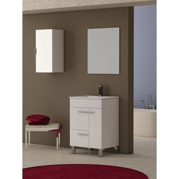 "Eviva Cup® 24"" White Modern Bathroom Vanity Set - EVVN521-24WH - Bath Vanity Plus"