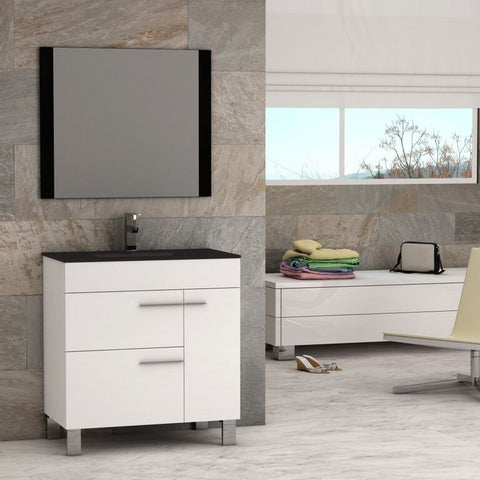 "Eviva Cup® 31.5"" White Modern Bathroom Vanity Set - EVVN521-32WH - Bath Vanity Plus"