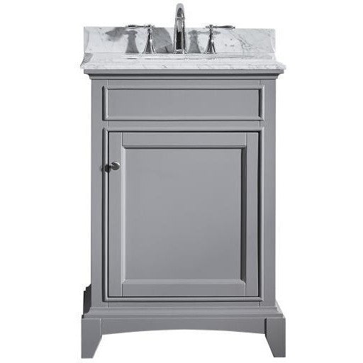 "Eviva Elite Stamford® 24"" Gray Solid Wood Bathroom Vanity Set - EVVN709-24GR - Bath Vanity Plus"
