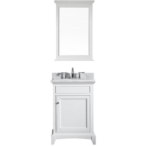 "Eviva Elite Stamford® 24"" White Solid Wood Bathroom Vanity Set - EVVN709-24WH - Bath Vanity Plus"