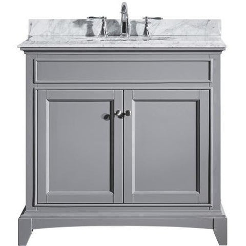 "Eviva Elite Stamford® 36"" Gray Solid Wood Bathroom Vanity Set - EVVN709-36GR - Bath Vanity Plus"