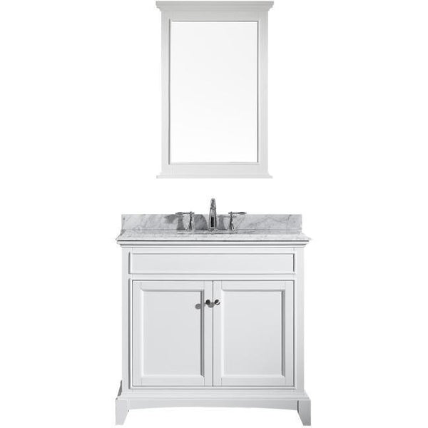 "Eviva Elite Stamford® 36"" White Solid Wood Bathroom Vanity Set - EVVN709-36WH - Bath Vanity Plus"