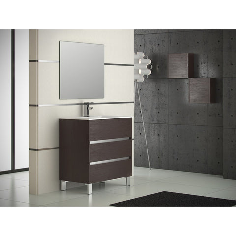 "Eviva Escorpio® 32"" Wenge Modern Bathroom Vanity Set - EVVN534-32WG - Bath Vanity Plus"