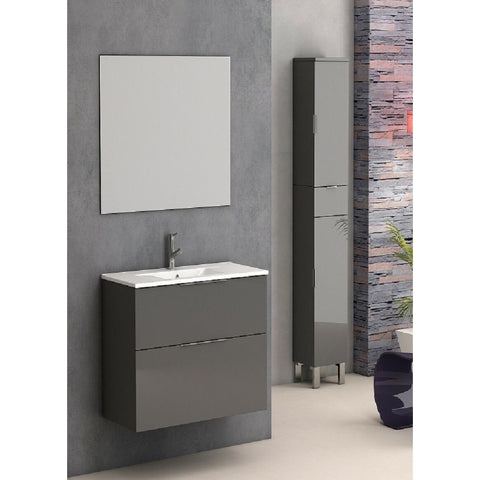 "Eviva Galsaky 24"" Gray Wall-Mount Modern Bathroom Vanity Set - EVVN523-24GR - Bath Vanity Plus"