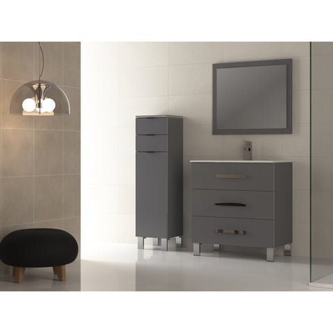 "Eviva Libra® 31.5"" Gray Modern Bathroom Vanity Set - EVVN531-30GR - Bath Vanity Plus"
