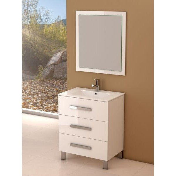 "Eviva Libra® 31.5"" White Modern Bathroom Vanity Set - EVVN531-30WH - Bath Vanity Plus"