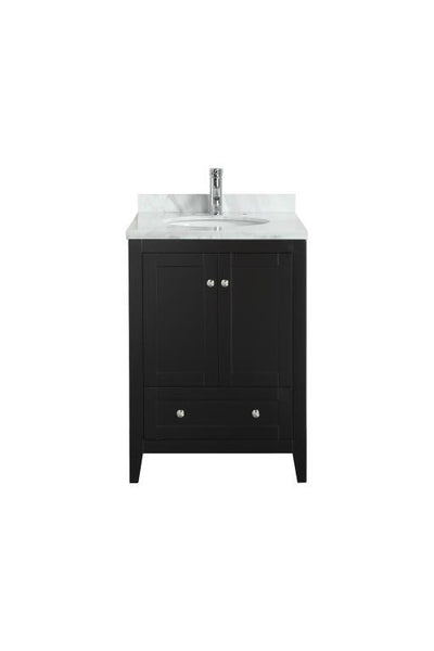 "Eviva Lime® 24"" Espresso Single Sink Bathroom Vanity Set - EVVN07-24BL-MRB.TOP - Bath Vanity Plus"