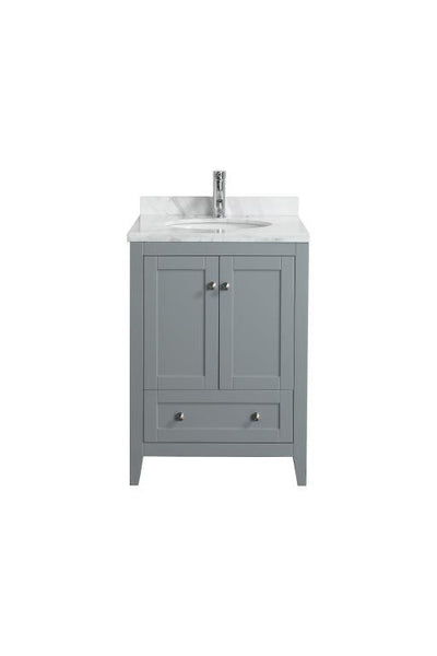 "Eviva Lime® 24"" Gray Single Sink Bathroom Vanity Set - EVVN07-24GR-MRB.TOP - Bath Vanity Plus"
